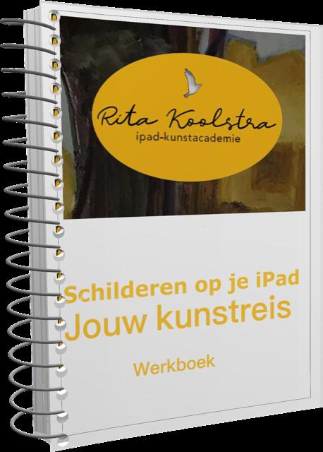 gemakkelijke demo's over hoe je begint met schilderen op een iPad. Ipadkunstacademie Rita Koolstra