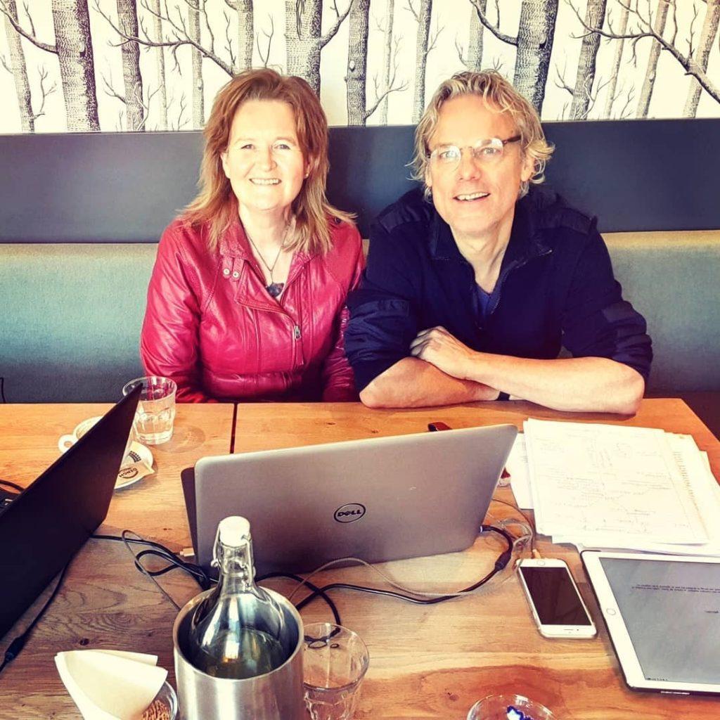 Een eigen coach op je lespakketten door te nemen, Rita Koolstra (ipadkunstacademie) met Thijs van Halewijn